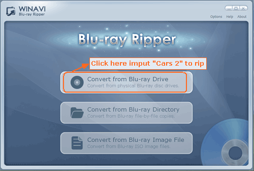 Rip Bluray Cars 2 to other video formats - screenshot