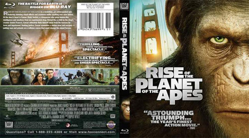 Rise of the Planet of the Apes bluray disc cover- screenshot