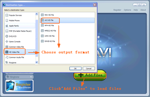 Load multi video files into WinAVI All In One Converter- screenshot